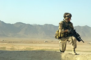 Canadian soldier in Kandahar