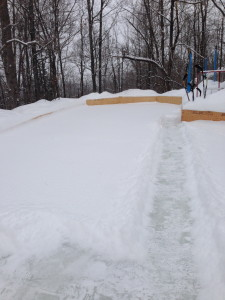 Front yard rink