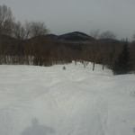 A boy in his first bumps, Mont Tremblant