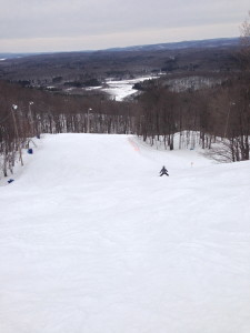 A boy alone on his first Black Diamond