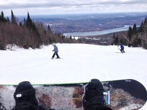 View from the board, Tremblant